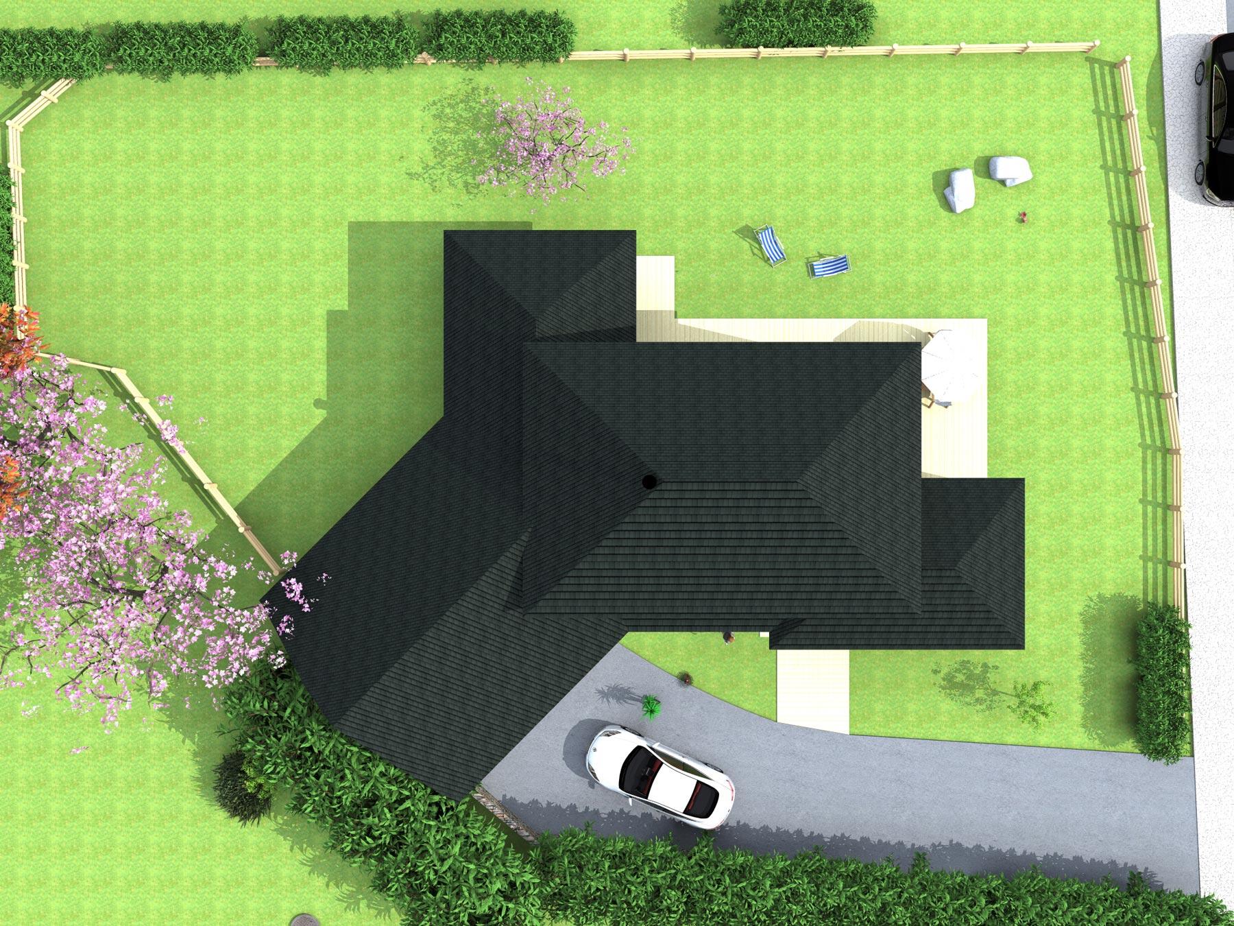 Vue de 3d de dessus du projet